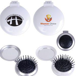 Compact Brush - Mirror Set