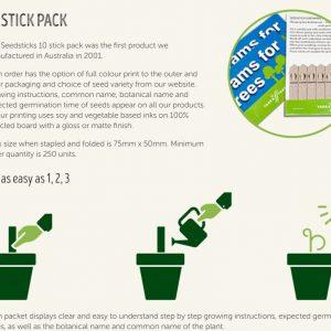 Australian Made - 10 Pack Seedstick