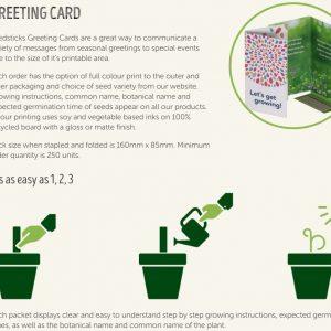 Greeting Card Seedstick Pack
