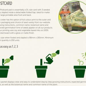 Postcard Seedstick Pack