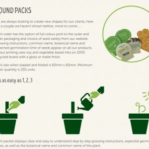 Australian Made - Round Shape Seedstick Pack