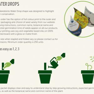Australian Made - Water Drop Shape Seedstick Pack