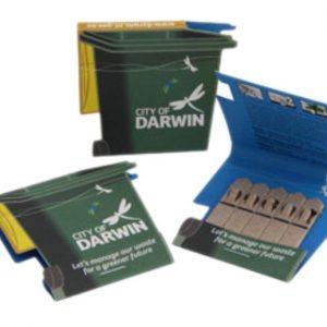 Wheelie Bin Shape Seedstick Pack