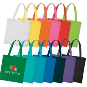 Bags - Coloured Cotton Tote Bag