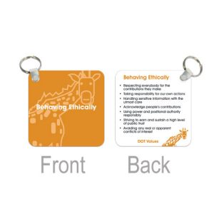 Australian Made - Plastic Keyring